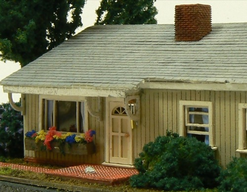 N scale ranch house no 1 for Ranch home kits